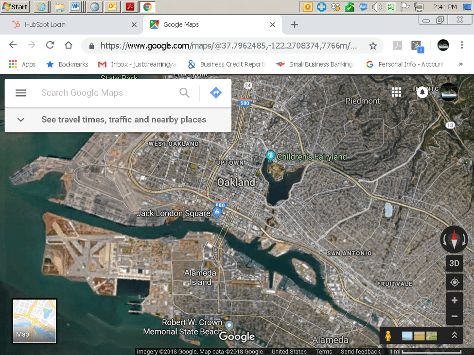 Oakland Estuary Map