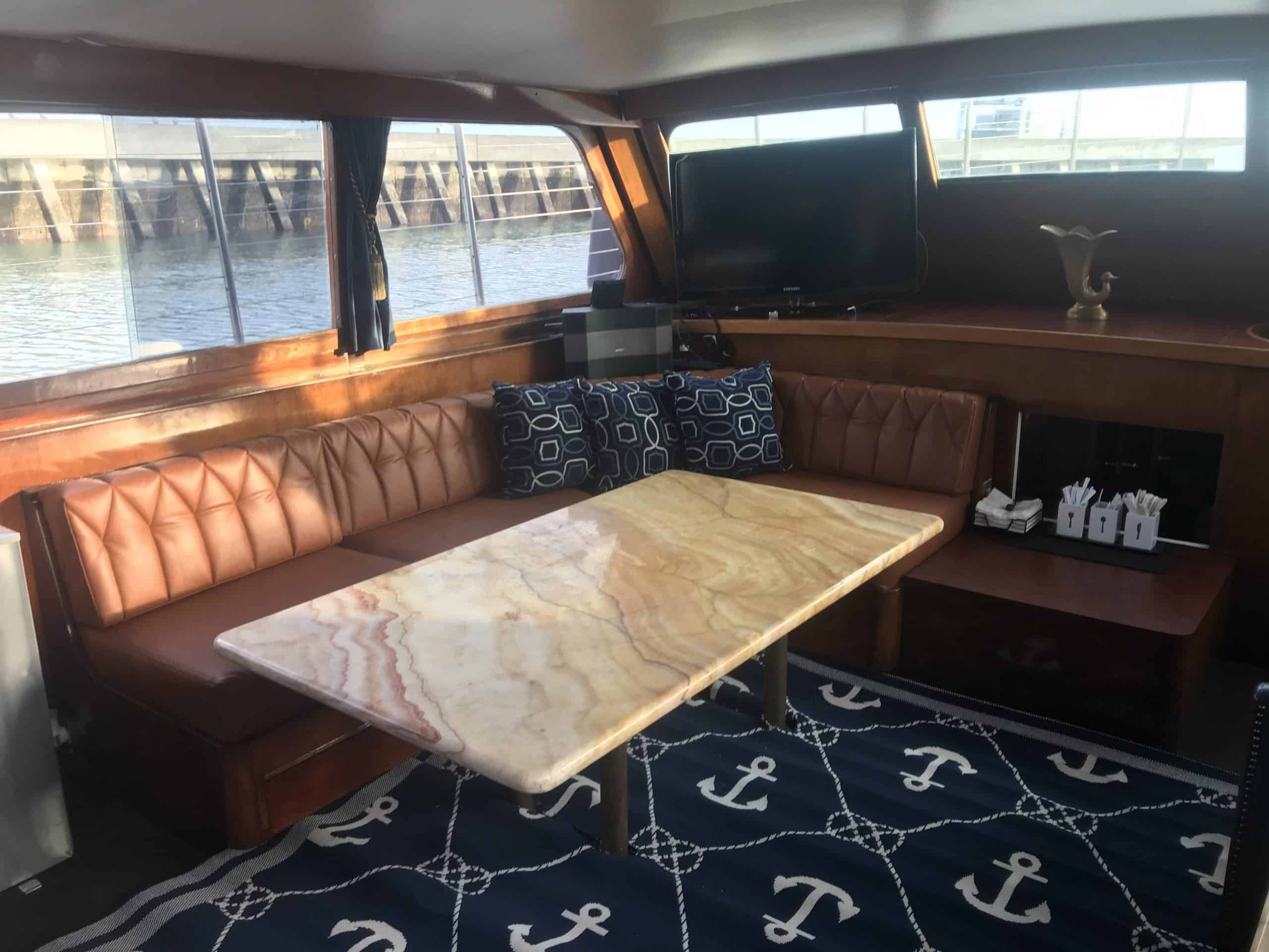 Private event space vintage yacht